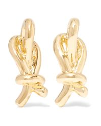 Elizabeth and James | Metallic Talis Gold-plated Earrings | Lyst