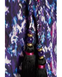 Matthew Williamson - Purple Printed Silk-satin Kimono - Lyst