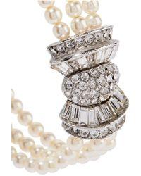 Ben-Amun - Metallic Silver-tone Faux Pearl And Crystal Bracelet - Lyst