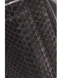 Maison Margiela - Black Convertible Leather And Watersnake Shoulder Bag - Lyst
