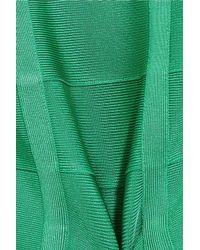 Hervé Léger - Green Cutout Bandage Dress - Lyst