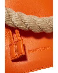 J.W. Anderson - Orange Stud-embellished Leather Bucket Bag - Lyst