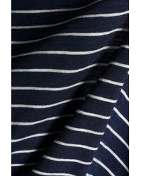 Vince - Woman Striped Pima Cotton Top Blue - Lyst