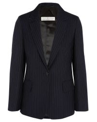 Golden Goose Deluxe Brand | Blue Pinstriped Wool And Mohair-blend Blazer | Lyst