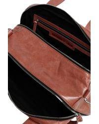 McQ Alexander McQueen - Multicolor Fringe-trimmed Crinkled Leather Shoulder Bag - Lyst