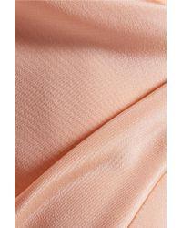 Cushnie et Ochs - Pink Twist-front Silk-crepe Midi Dress - Lyst