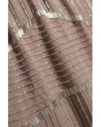 W118 by Walter Baker - Brown Destiny Bead-embellished Chiffon Mini Dress - Lyst