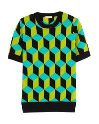 Michael Kors | Intarsia Cashmere Sweater Leaf Green Size Xs | Lyst