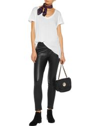RTA - Black Lucy Embellished Leather Skinny Pants - Lyst