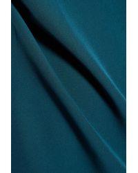 MILLY - Blue Crepe Mini Dress - Lyst