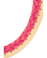 Aurelie Bidermann - Pink Copacabana 18-karat Gold And Braided Necklace - Lyst