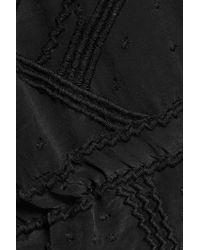 IRO - Black Austin Embroidered Chiffon Playsuit - Lyst