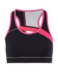 Sàpopa - Sàpopa Woman Athena Mesh-paneled Cutout Stretch Sports Bra Black - Lyst