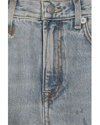 R13 - Blue Bowie Distressed High-rise Straight-leg Jeans - Lyst