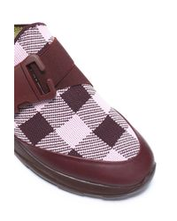 Christopher Kane - Multicolor Leather-trimmed Checked Woven Slip-on Sneakers - Lyst