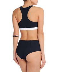 Diane von Furstenberg - Blue High-rise Bikini Briefs - Lyst