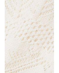 Emilio Pucci - White Crochet-knit Cotton-blend Tank - Lyst