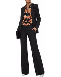 Stella McCartney - Black Wool-twill Flared Pants - Lyst