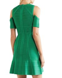 Hervé Léger - Green Cutout Bandage Dress - Lyst