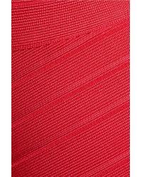 Hervé Léger Multicolor Cutout Bandage Gown
