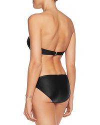 Calvin Klein - Black Gathered Bandeau Bikini Top - Lyst