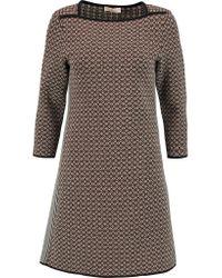 Tory Burch | Brown Jacquard-knit Mini Dress | Lyst