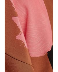 Marni - Brown Printed Silk Top - Lyst