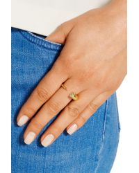 Iam By Ileana Makri | Metallic Thorn Eye Gold-plated Cubic Zirconia Ring | Lyst