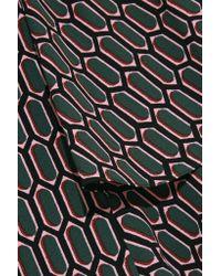 Marni - Green Printed Stretch-crepe Midi Dress - Lyst