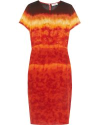 Altuzarra | Red Glaze Tie-dyed Silk-satin Dress | Lyst