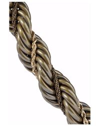 Lanvin - Gray Braided Gold-tone, Resin And Rope Necklace Grey Green - Lyst