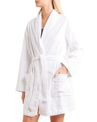 DKNY - White Signature Cotton-terry Robe - Lyst