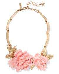 Oscar de la Renta - Multicolor Gold-plated Resin Necklace - Lyst