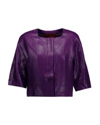 Missoni - Purple Coated Woven Jacket - Lyst
