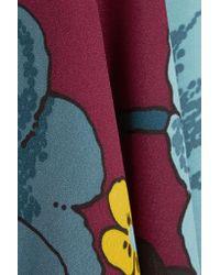 Marni - Multicolor Asymmetric Floral-print Crepe De Chine Mini Dress - Lyst