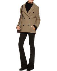 Sonia Rykiel Blue Woven Wool-blend Coat