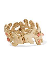 Oscar de la Renta - Metallic Sea Tangle Gold-tone Resin Bracelet - Lyst