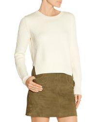 Maje - Black Maia Ribbed Wool Sweater - Lyst