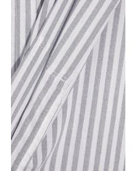 DKNY - Striped Voile Nightdress Light Gray - Lyst