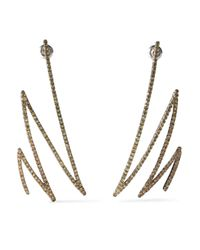 Khai Khai - Yellow Oxidized Gold-tone Sapphire Earrings - Lyst
