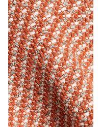 Maje - Multicolor Reja Pleated Cotton-blend Bouclé-tweed Mini Dress - Lyst