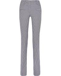 Altuzarra - Gray Serge Houndstooth Stretch-cotton Flared Pants - Lyst