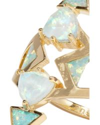 Noir Jewelry | Metallic Gold-tone Opal Ring | Lyst