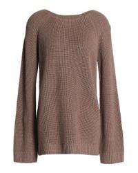Day Birger et Mikkelsen - Multicolor Wrap-effect Wool-blend Sweater Taupe - Lyst