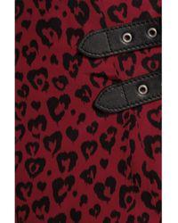 COACH - Red Printed Silk Mini Wrap Skirt - Lyst