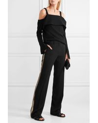 Vanessa Bruno - Black Girel Sequin-embellished Crepe Straight-leg Pants - Lyst