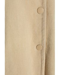 Ganni | Natural Cotton-blend Corduroy Coat | Lyst