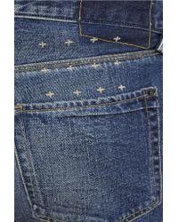Ksubi - Blue Mid-rise Denim Shorts - Lyst