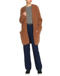 Vince - Multicolor Woman Wool And Cashmere-blend Bouclé Cardigan Camel - Lyst