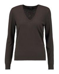 Joseph - Brown Cashmere Sweater - Lyst